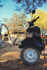 gran turismo (Photonico's [nico_onida]) Tags: camping wild mountain canon vintage sardinia vespa wildlife tourist scooters golgo baunei goloritzé calagoloritzé
