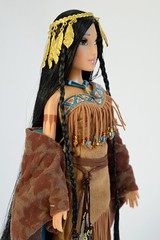 Pocahontas and John Smith Doll Set - Disney Fairytale Doll Collection - Disney Store Purchase - Deboxed - Pocahontas Free Standing - Midrange Left Front View (drj1828) Tags: john us dolls designer smith merchandise purchase limitededition pocahontas disneystore 12inch firstlook productinformation dollset deboxed le6000 disneyfairytaledesignercollection