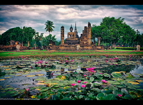 From Cactus to the Clouds to Wat Mahathat - Sukhothai Historical Park, Thailand, Southeast Asia