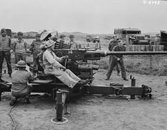 US troops training with a Bofors gun, Northern Ireland 1942. (G.I N.I) Tags: ww2 northernireland 1942 40mm usarmy antiaircraft bofors ballykinlar ballykinler