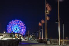 Quiet October Nights (Benjamin Coy) Tags: longexposure tourism sc night myrtlebeach southcarolina fair tourist boardwalk ferriswheel amusementpark rides atlanticocean skywheel saltlife horrycounty