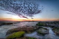 Begin Again (kurianjosephphotography) Tags: seascape colors clouds canon landscape flow rocks sydney australia cliffs newsouthwales filters seas 6d northernbeaches bungan leefilters