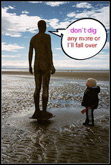 crosby beach (exacta2a) Tags: statues shore sculptures crosby liverpoolmerseyside