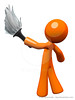 Orange Man Holding Feather Duster, Cleaner or Butler (clipartillustration) Tags: people house home work person holding soft hand adult interior working young feather cleaning clean housework domestic maintenance duster butler fancy service worker dust cleaner household sweep hygiene tool chores services employee housekeeping sanitation servant sweeping housekeeper occupation chore featherduster orangeman housecleaning worman