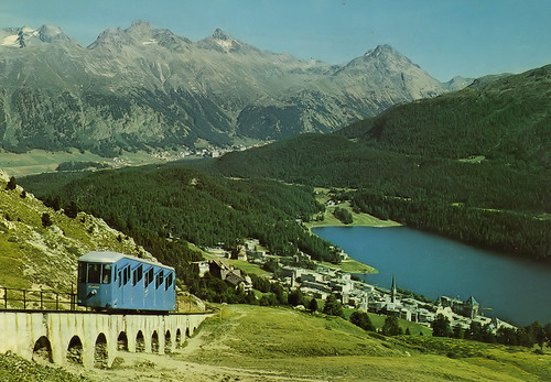 Pictures of a postcard - Switzerland - St. Moritz