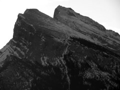 Mount Rundle, morning (reidcrosby) Tags: mount rundle banff alberta canada blackandwhite