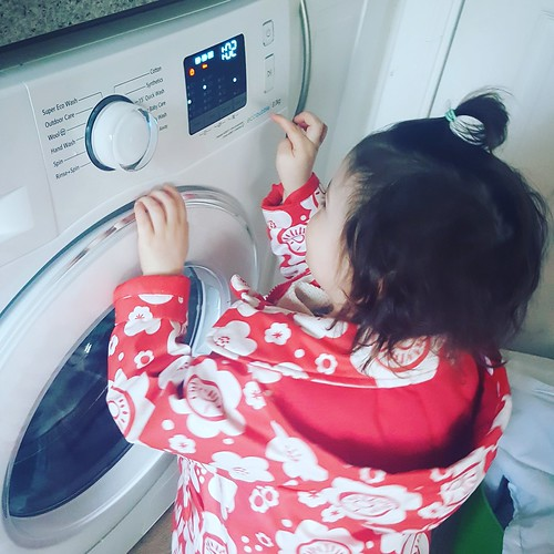 Bought a new washing machine. This one has a Child Lock. Best function in the house.  #toddlerlife #lookmummynotworking