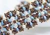 Aulea Bracelet (BeeJang - Piratchada) Tags: beadweaving beading beadwork superduo bracelet tutorial pattern miyuki swarovski crystal pearl jewelry handmade blue bronze brown turquoise