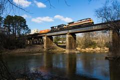 Heritage over the Hooch (Kyle Yunker) Tags: ns norfolk southern dlw delaware lackawanna western railroad emd sd70ace 290 atlanta chattahoochee river bridge