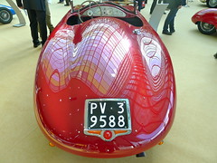 Red Roadster, italien, Stanguellini 1100 Sport, rear view, production year 1947 (Winfried Scheuer) Tags: roadster sportscar car auto two seater rear aerodynamic streamline compact fluid glossy reflection avantgarde design numberplate modena designer styling premium classy cool perfect ultimate epic jaguar e