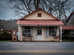 Country Store and More.  HBM. (Mr. Pick) Tags: country store general gas pump rust rusty tn tennessee swing bench tin rural