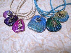 Mermaid Scales (LynzCraftz) Tags: polymerclay resin swellegant pendant jewelry necklace oneofakind handmade