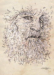 45 Days of President #45: Too Much Information Age (The Searcher) Tags: derek chatwood poprelics art illustration sketch drawing pencil blackwing politics president 45 donald trump distraction old man portrait beard age aging