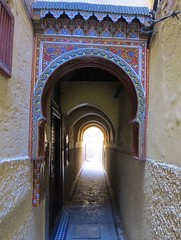 Medina passageway (tom_2014) Tags: gate arch architecture fez fes city alley medina mdina town oldtown narrow colour berber mahgreb travel famous landmark building unesco heritage history worldheritagesite worldheritage roof covered morocco moroccan africa african northafrica
