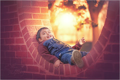 Chilling (Ethan|xxvi) Tags: boy bokeh beautiful backlit backlight ethanxxvi outdoor spring sunset soft happy little guy photography 5dphotography canon5d canon sweet softlight child