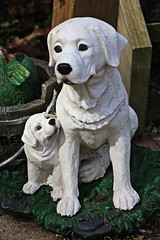 White Ceramic Dogs (hbickel) Tags: white ceramic dogs canont6i canon photoaday pad