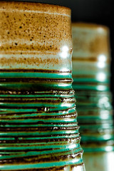 Handmade Sugar Bowl (Boba Fett3) Tags: pottery bowl ceramics macromondays2nds textures greens dof handmade westcountry cornwall kernow glaze