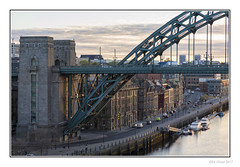 Along The Quayside (Seven_Wishes) Tags: newcastleupontyne canoneos5dmarkiv canonef24105mmf4lisii photoborder outdoor kc hm newcastlequayside tynebridge rivertyne citymarina boats mooredboats road buildings earlymorning cityscape flats architecture officeblock citystreets