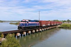 Saint Augustine, Florida (UW1983) Tags: trains railroads floridaeastcoast fec breastcancerawareness staugustine florida bridges