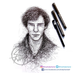 Sketch of Benedict Cumberbatch as Sherlock (myshakyhand) Tags: sherlock benedict cumberbatch drawing portrait fanart art scribble artist myshakyhand ashutosh tripathi 2017 tv series characters holmes celebrity actor