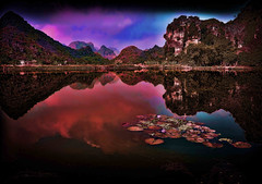 Lake view on the road between Tam Coc and Mai Chau (Neville Wootton Photography) Tags: holidays karst lakescapes mangojouneys ninhbinh tamcoc tamcocgardenhotel topazlabs vietnam