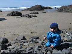 baby loves the creek (carolyn_in_oregon) Tags: crescentbeach cannonbeach pacificocean ecolastatepark coast jacob