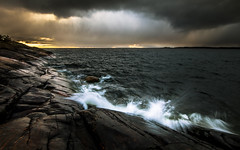 You better run and hide! (Edgar Myller) Tags: rain cloud clouds sunset storm raining porkkala stone rock coast sea water polarizer weather extreme condition wind meri vesi light mysterious