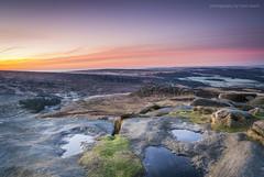 Higger Tor Sunrise (marc_leach) Tags: landscape peakdistrict darkpeak dawn sunrise rocks higgertor moorland nikon goldenhour