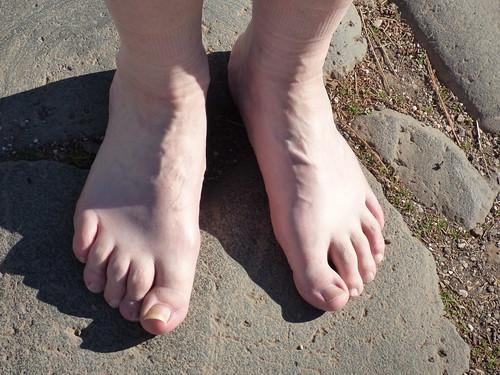 Rome - via appia antica, pilgrim feet, gordon