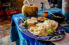 Yucatán Style Fish Tacos (norwegian_dawn_01_0786) (ronnie.savoie) Tags: tulum tulúm mexico méxico restaurant restaurants yucatan yucatán quintanaroo tacos fishtacos fish coconut