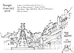 Besançon (gerard michel) Tags: france franchecomté besançon place architecture sketch croquis