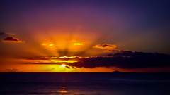Heaven's Light (mikederrico69) Tags: nature sunset sunrise sun sky clouds water sea seaside ocean reflection reflections yellow orange purple trip vacation relaxation meditation dark night sunrays summer beauty beaches beach carribean
