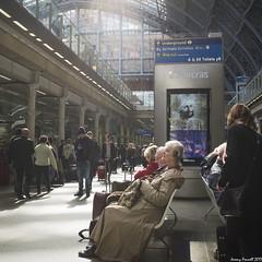 St Pancras Station (zolaczakl) Tags: london stpancrasstation april 2016 cityscenes people candid lightshadow photographybyjeremyfennell fujix100s jeremyfennellphotography jeremy fennell photography