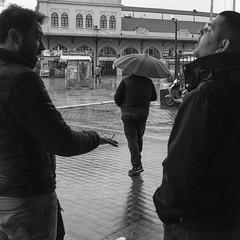 Kadıköy-Istanbul-Türkiye. (sefikatun) Tags: türkiye turkey istanbul kadıköy canon canon6d nikonnikkor35mmf2ais siyahbeyaz blackandwhite blackwhite blakandwhite sokakfotoğrafı streetphotography streetphotograph yağmur rain şemsiye umbrella brolly