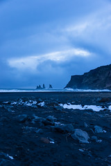 iceland-1601.jpg (jessicatesla) Tags: iceland blue beach southerniceland winter vík waves vik blacksand 2010 sunset trolls