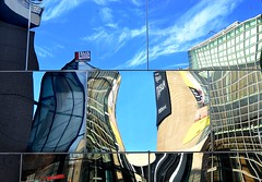Amsterdam Reflections (Clare-White) Tags: colour vivid abstract amsterdam sky blue buildings architecture windows reflection mirror museumsq unanimous matchpoint t558 winner
