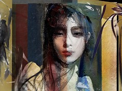 portrait 23 (skizo39) Tags: woman collage layers art digitalprocessing digitalart digitalpainting photomanipulation colors colorful graphical design creation artistic