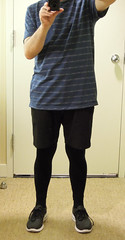 2016 Tights/Shorts #1 (dougaa) Tags: fashion future guy legwear leggings man opaque shorts black tights unisex sneakers tshirt