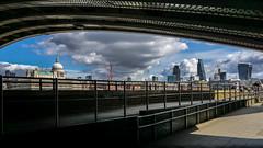 Take Shelter (Gordon McCallum) Tags: stpaulscathedral themilleniumbridge riverthames londonengland clouds walkway underpass sony sonya6000 skyline cityoflondon