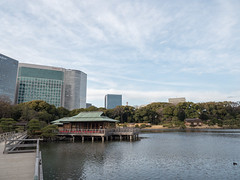 P1640446 (Rambalac) Tags: asia japan lumixgh4 bridge construction pond water азия япония вода мост пруд сооружение