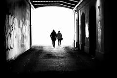 toward the unknown (s@brina) Tags: dark light people unknown life monochrome blackandwhite