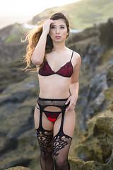 Kat (Marvin Chandra) Tags: d600 50mm katsweets sukiyuki marvinchandra 2017 lingerie boudoir model portrait landscapeportrait lanailookout lavarocks hawaii oahu hawaiikai