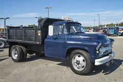1956 Chevrolet 6500 dump truck (Thumpr455) Tags: americantruckhistoricalsociety westernnorthcarolinaagcenter arden nc october 2016 aths truck nikon d800 northcarolina machinery 1956 chevrolet 6500 dumptruck chevy blue
