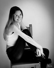 ERICA008 (DivinaLocura) Tags: beautiful gente portrait bw blancoynegro retrato retratos canon