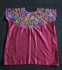 Huipil Maya Chiapas Zinacantan Mexico (Teyacapan) Tags: maya mexican chiapas zinacantan huipils ropa textiles clothing flores embroidered