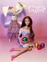 Buona Pasqua (MaxxieJames) Tags: vittoria belmonte doll mattel barbie made move teresa easter rabbit bunny eggs chocolate