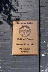 Einstein in Saranac Lake (jschumacher) Tags: newyorkstate saranaclakenewyork saranaclake upstate adirondacks sign alberteinstein