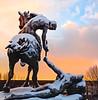 Assistance (Paco CT) Tags: agua amanecer cielo construction escultura motif nieve sculpture sky snow sunrise alba art arte crepusculo dawn daybreak earlyhours orto twilight madrid spain esp cityscape city outdoors pacoct 2017