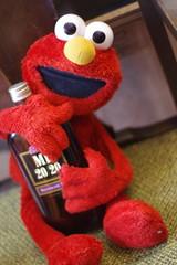Stingy boozer Elmo (Grampa Caligula II) Tags: elmo toys sesamestreet cutemacabre pentaxk3ii