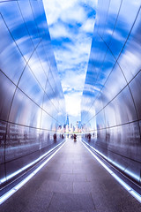 Tunnel Vision (ascholtz101) Tags: 911memorial adobelightroomcc adobephotoshopcc andrewscholtz colorefexpro emptyskymemorial jerseycity nj newjersey nikcollection nikond7200 rokinon8mmf35hdfisheye silverefexpro us unitedstates afternoon ascholtz101 color fisheye halo outdoors reflection ultrawideangle wideangle